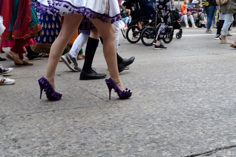 High Heels Sissythatwalk Purple Shoes Pride Parade Pride Gay Pride Lgbtq LGBTQ Rights Drag Real People Street Group Of People Low Section City Women Adult Men Large Group Of People Human Leg Crowd