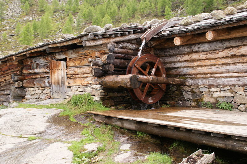 Day Mill Wheel Nature No People Old-fashioned Outdoors Water Wheel Watermill Wheel Wood - Material