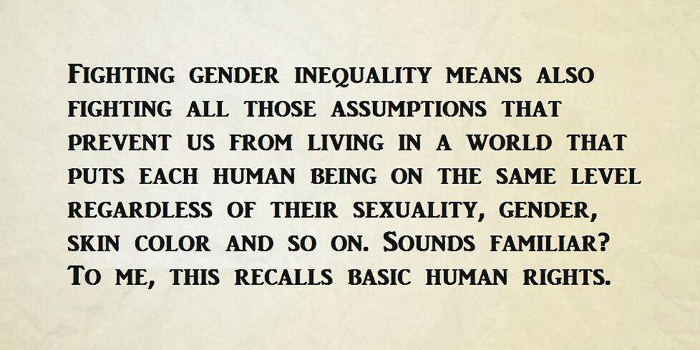 Gender Inequality Women Men Humanrights Struggle Quote Foodforthought
