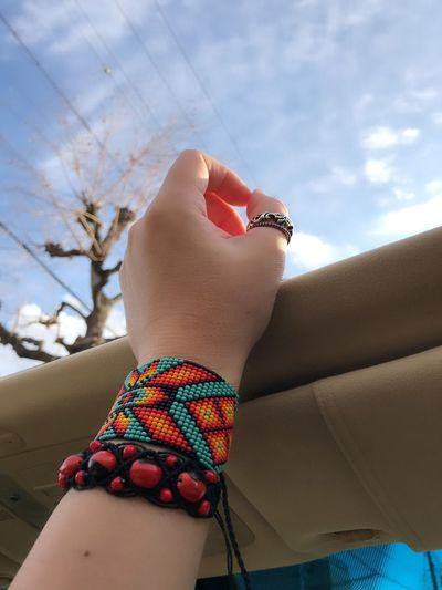 One Person Real People Sky Day Human Hand Human Body Part Lifestyles Outdoors Low Section People Close-up