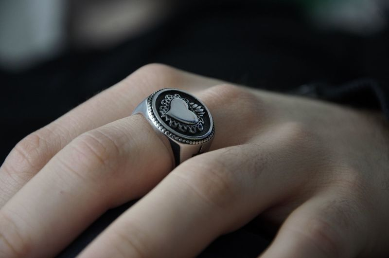 Close-up of hand with ring