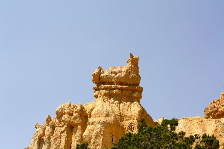 Eroded natural rock structure