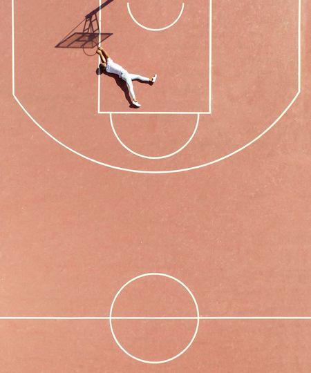 People Man Made Object Silhouette Drone  Aerial Dronephotography Minimal Minimalism Creativity Art Basket Ball Sport Basketball - Sport Day Competition Court High Angle View Basketball Hoop People Geometric Shape Circle Shape Outdoors Net - Sports Equipment Motion My Best Photo My Best Photo The Minimalist - 2019 EyeEm Awards