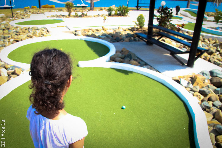 Entertainment Fiji Islands Golf Golfer Golfing High Angle View Leisure Activity Minigolf Minigolfcourse Outdoors Playing Southpacific Sports Sunny Day Sunshine