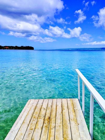 Vanuatu Water Sea Tree Blue Beach Summer Wood - Material Jetty Pier Sky Boardwalk Turquoise Colored Island Bay Of Water