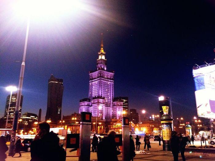 Warsaw Poland City Evening