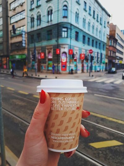 Coffee Break Coffeelover Coffeemug Coffee Time Human Hand Human Body Part Holding One Person Building Exterior City People Food And Drink Architecture