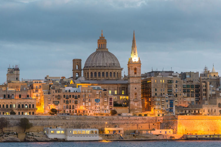 Different view of the Valletta skyline Building Exterior Architecture Built Structure Sky The Past Dome History Building Travel Destinations City Cloud - Sky Place Of Worship Travel Tourism Religion Nature No People Spirituality Belief Outdoors Government Valletta Malta Maltaphotography Valletta,Malta