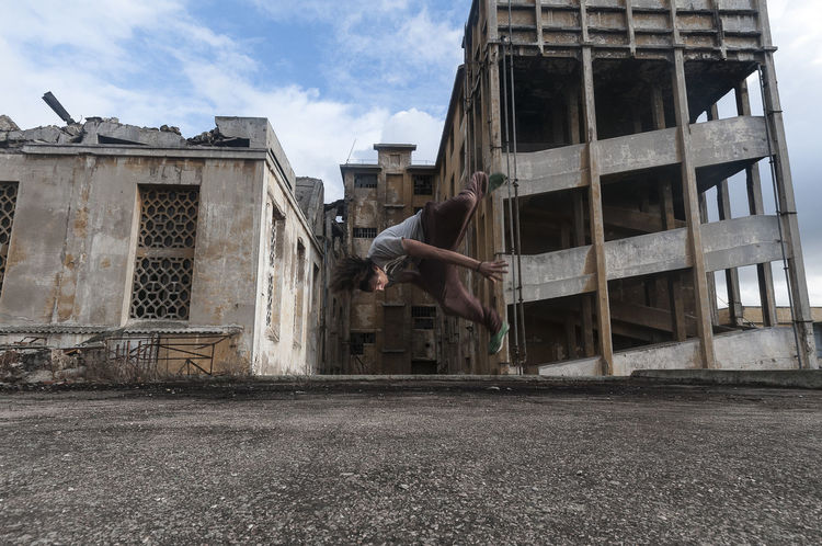 Dancer Freestyle Jump Parcours Skill  Urban Young Youth