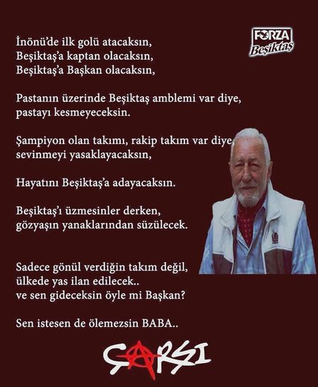 Süleyman Seba anısına...Sen bizim için ölümsüzsün...Süleymanseba Büyükbaşkan Beşiktaşk Beşiktaş ❤