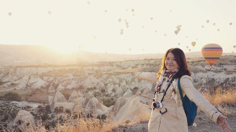 The world is amazing. Cappadocia Traveling Turkey Travel Hotairballoon Hotairballoons First Eyeem Photo