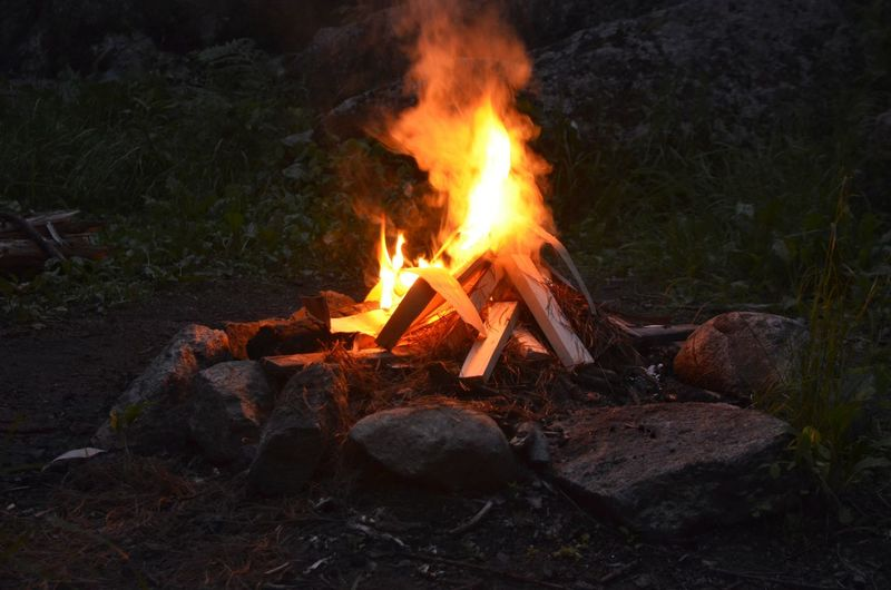 Bonfire Flame Heat - Temperature Burning Campfire Close-up Fire Pit Camping