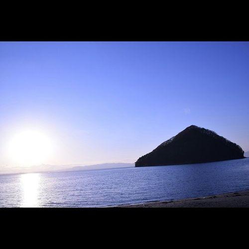 浅虫 風景 むつ湾 青空と海