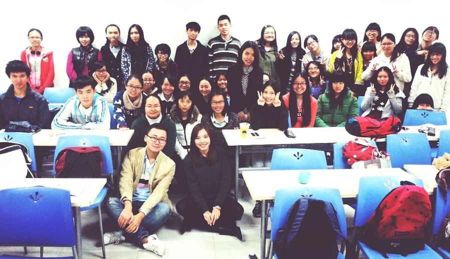 my class. for the first time i teach. Uic