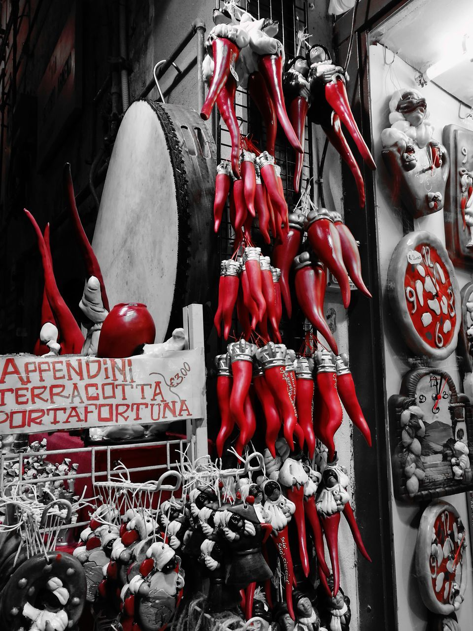 red, for sale, large group of objects, retail, no people, hanging, variation, day, choice, store, outdoors