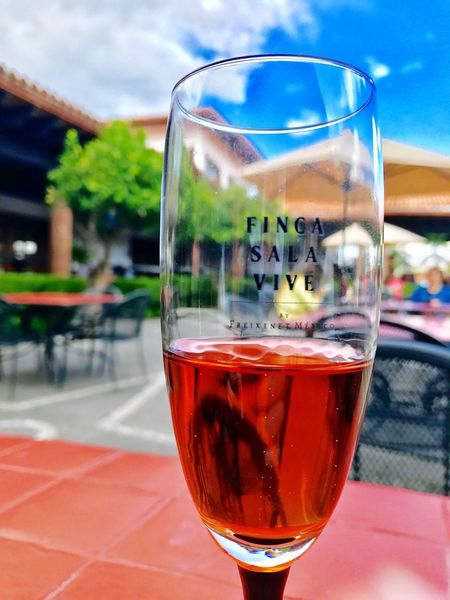 Wine Wineglass Wine Moments Sparkling Summer Summer ☀ Blue Sky Clouds And Sky Rosé Life Refreshment Outdoors Focus On Foreground Close-up Wine Not