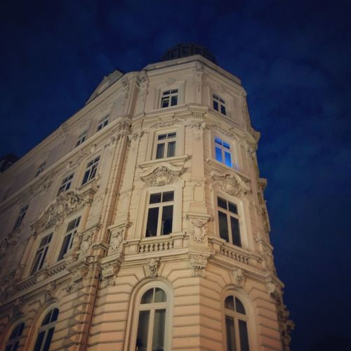 Sternschanze Hamburg Building Exterior Low Angle View Architecture Built Structure Building Sky Night No People Blue Spirituality Religion Belief The Past History Travel Destinations Place Of Worship Nature Window