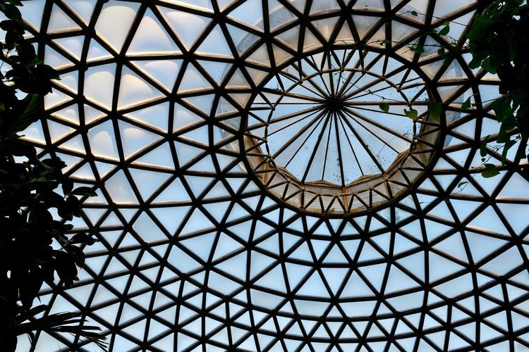 Dome Pattern Indoors  Low Angle View Ceiling Built Structure Full Frame Architecture No People Day Sky