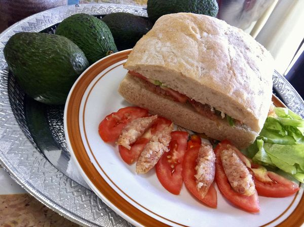 CIY Ciabatta Isan-Chorizo Tomato Sandwich. Simply cooking brunch at home on weekend. Breakfast Thai Sausage Brunch Ciabatta Close-up Day Delicious Food Food And Drink Freshness Healthy Eating Indoors  No People Plate Ready-to-eat Sandwich Sausage Table Tomato Yummy