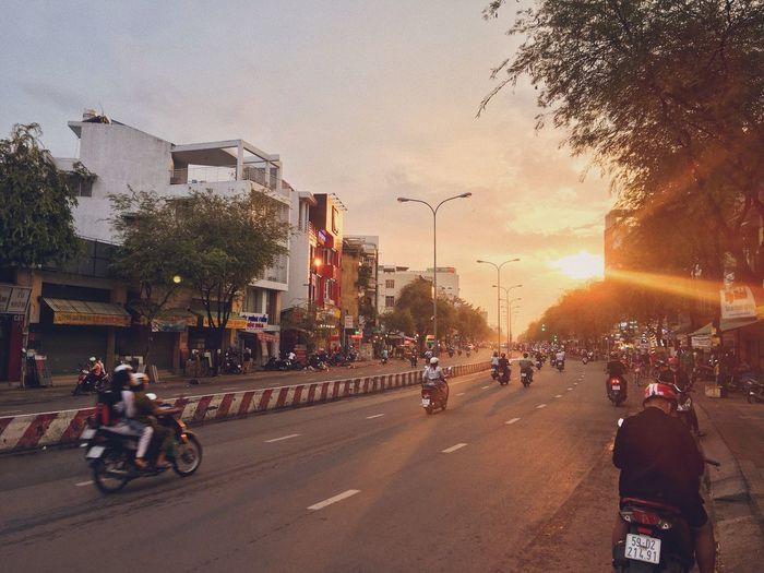 After the rain Shu's Shus Hochiminhcity Vietnam City Transportation Street Road Mode Of Transportation Architecture Sky