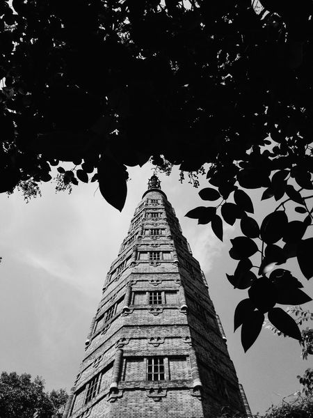 Hangzhou China Pagoda Westlake XiHu Tower Top Of The Mountain Fall Light Leaves Buddhist