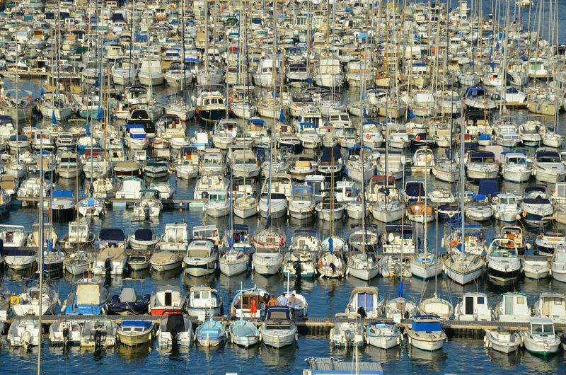 A sea of boats. Boats Marseille Boatlife Ordered Row Of Things Row, Row, Row Your Boat