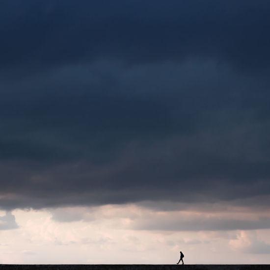 Chania EyeEm Best Shots EyeEm Selects EyeEmNewHere The Week on EyeEm Beauty In Nature Cloud - Sky Crete Greece Horizon Horizon Over Water Idyllic Nature Outdoors Overcast Scenics - Nature Sea Silhouette Sky Standing Storm Cloud Tinypeopleinbigplaces Tranquil Scene Tranquility The Traveler - 2018 EyeEm Awards
