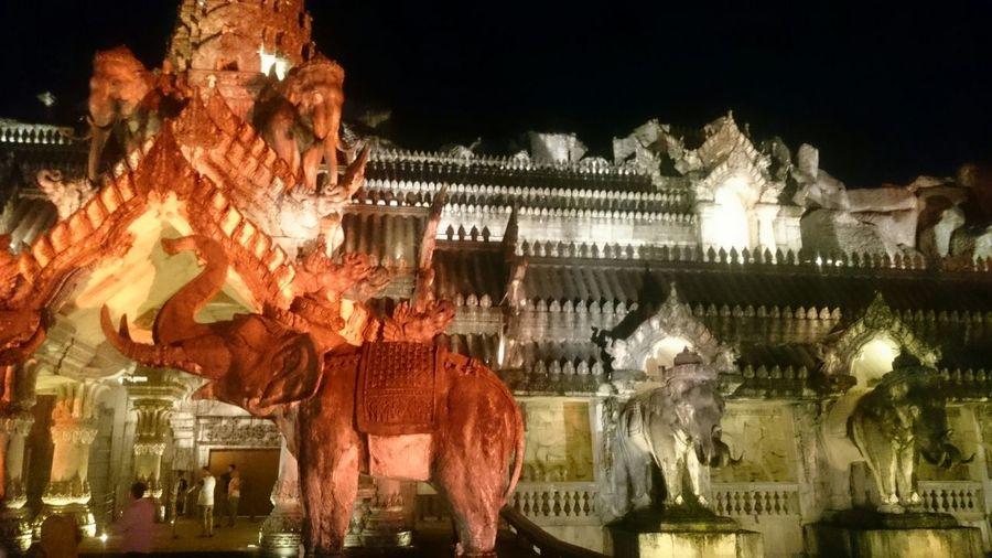 Phuket Fantasy...Thailand Hanging Celebration Illuminated Night Outdoors Statue