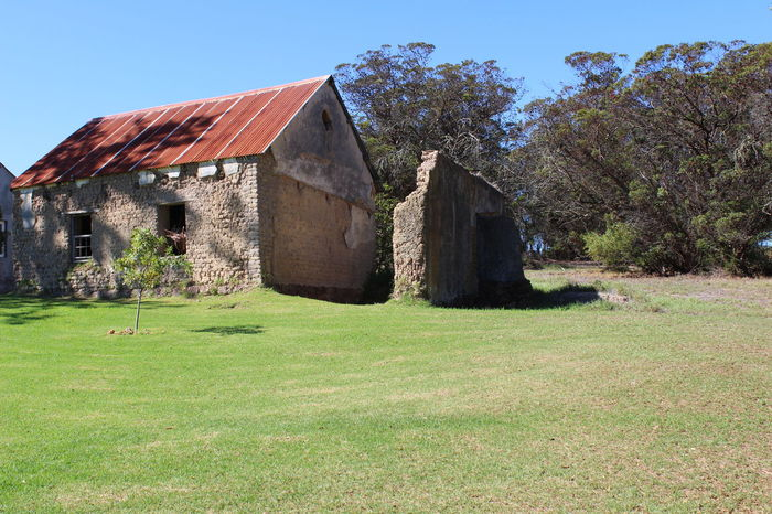 the old home Architecture Building Exterior Building, Built Structure Clear Sky Day Farm Building Grass House Nature No People Old Buildings Old Home Outdoors Stone House Tree