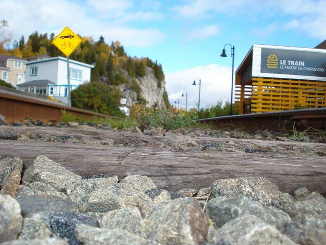 Malbaie Train Station Outdoors Railroad Ties Train Du Massif Train Station Train Tracks Transportation