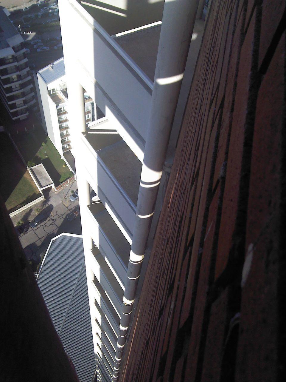 Directly Below Shot Of Building