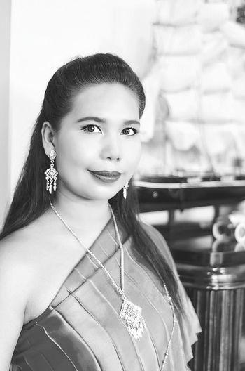 Thai Thai_dress Thailand🇹🇭 Women Thai B&W Portrait First Eyeem Photo