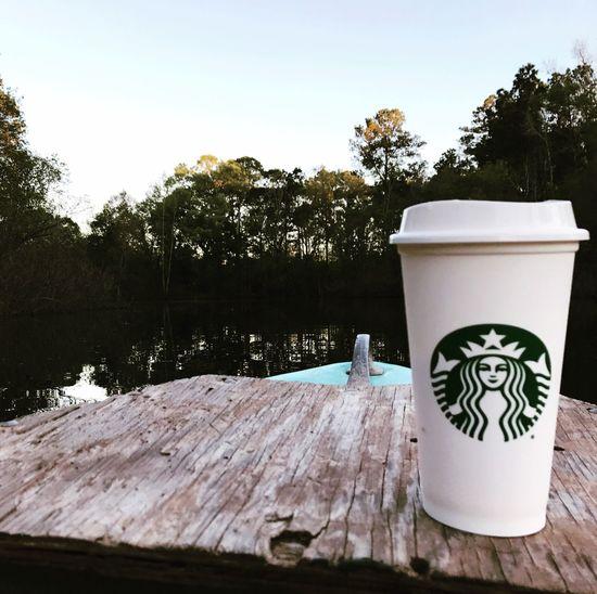 Starbucks Starbucks Texas Conroe Nature Water Tranquility Lake