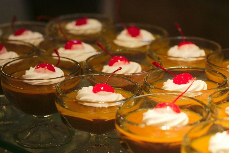 Dessert Cups With Cherry On Top
