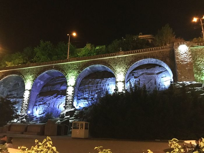 #bridg Tibilisi Georgia #architecure #nightshot #photography Night Illuminated Architecture Arch Bridge - Man Made Structure Built Structure Street Light Outdoors Building Exterior EyeEmNewHere