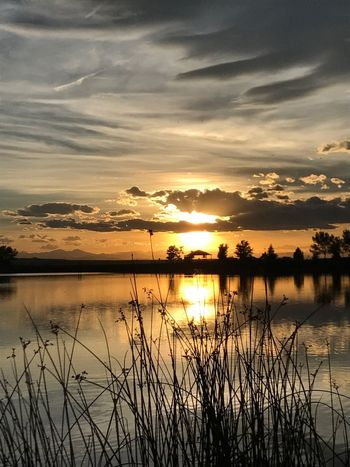 Sunset Reflection Tranquility Colorado Photography Lake Outdoors