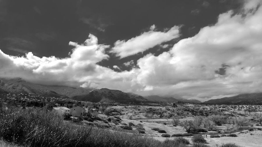 Landscape - Spring Clouds Bear Creek Regional Park Colorado Spring 2018 B&w Beauty In Nature Black And White Cloud - Sky Colorado Springs Day Environment Field Land Landscape Mountain Mountain Range Nature No People Non-urban Scene Outdoors Plant Remote Scenics - Nature Sky Tranquil Scene Tranquility