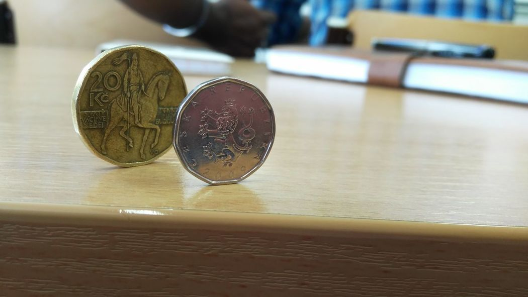 Close-up Coin Day Indoors  No People Old Is Gold Table
