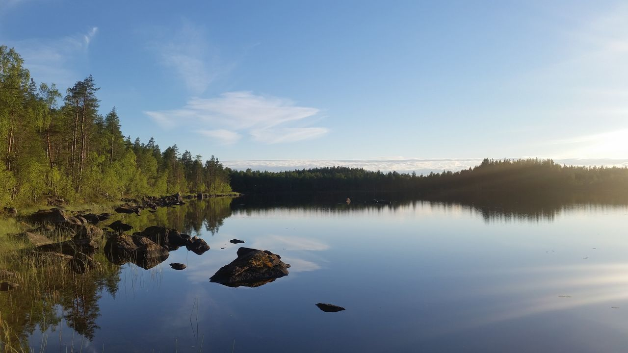 reflection, water, nature, tranquil scene, tranquility, sky, lake, no people, beauty in nature, scenics, outdoors, day, tree