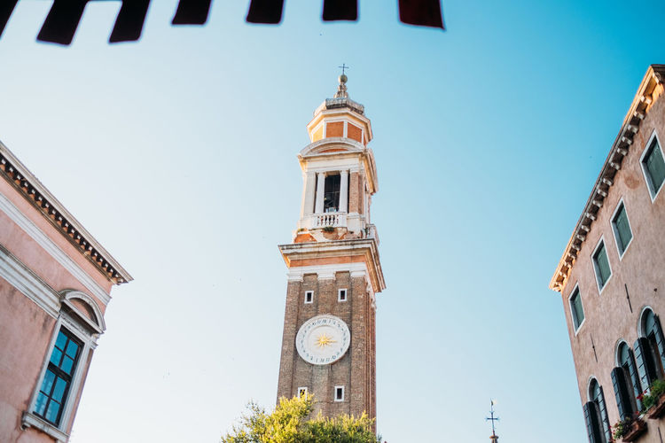 Venice Architecture Built Structure Building Exterior Sky Building Low Angle View Clear Sky Tower Place Of Worship Spirituality Religion Belief Nature Clock Bell Tower - Tower Clock Tower Time Day Tall - High No People Arch Outdoors Spire