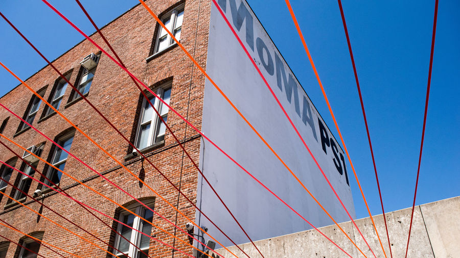 Architecture Architecture Art Blue Building Building Exterior Built Structure Cable City City Life Day Lines Long Island City Low Angle View Modern Moma Multi Colored No People NYC NYC Photography Outdoors Queens NYC Residential Building Sky Sunny