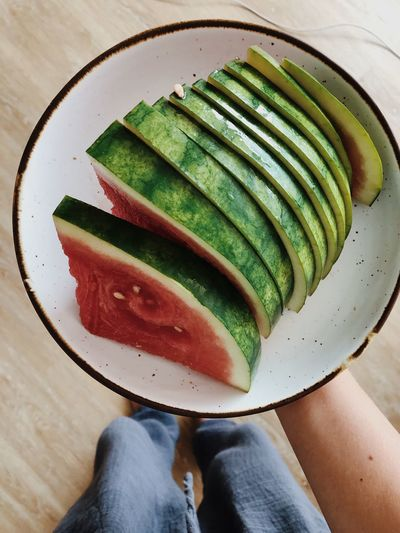 Watermelon Fresh Fruit Fruit Cut Watermelon Watermelon Food And Drink Freshness Food One Person Body Part Wellbeing Personal Perspective Healthy Eating