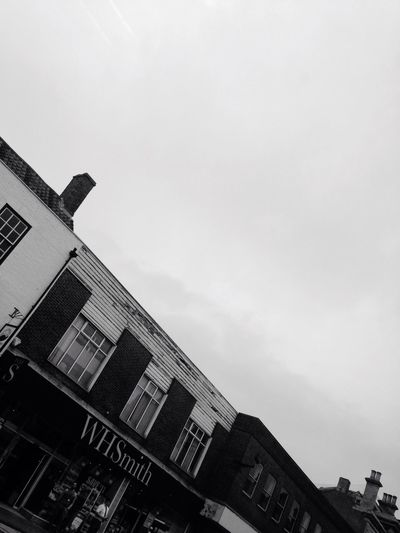 Bw1filter Sky Cloud Lincolnshire Iphonephotography IPhone Photography 2016 Whsmiths Old Buildings Shop Simple