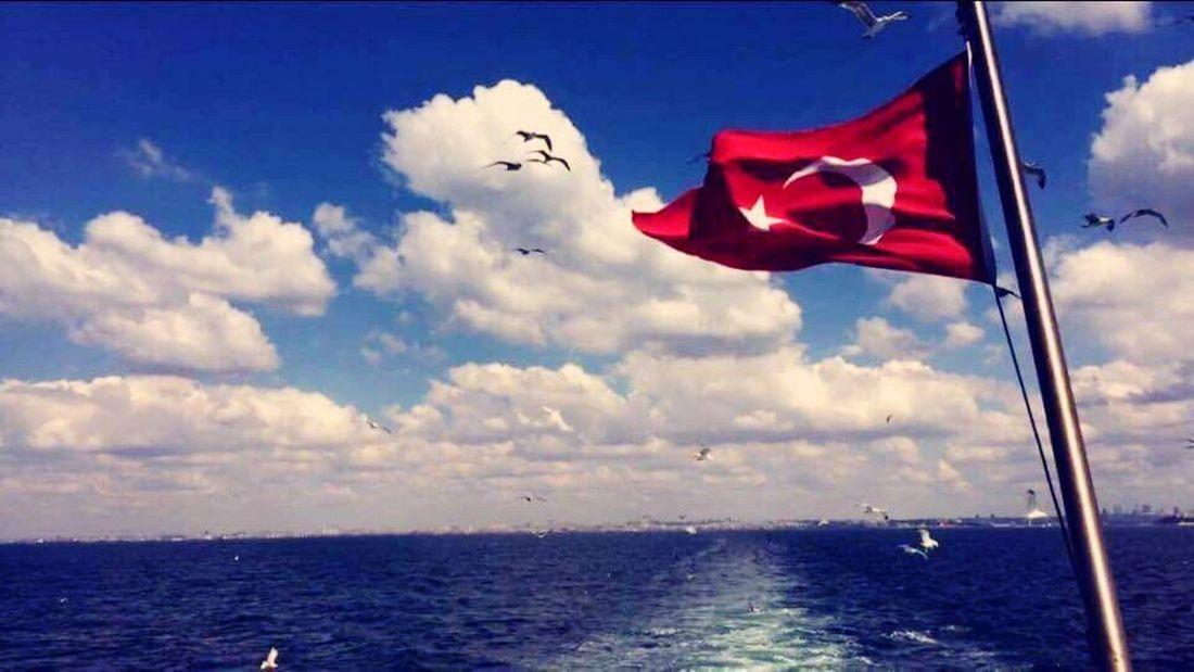 Bogazturu Flag Flying Sea Beauty In Nature