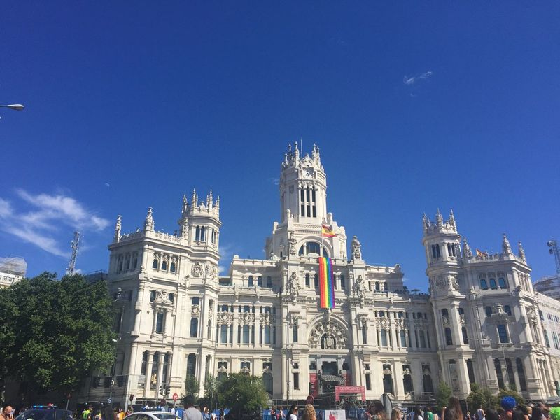 Madrid Worldpride Worldpride2017 Building Exterior Travel Destinations Cibeles Tourism Outdoors Travel City Saturday España🇪🇸 SPAIN