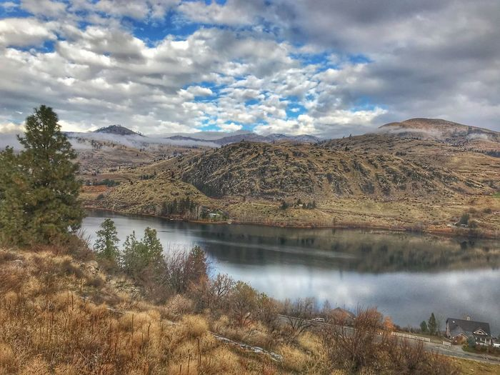 Four lakes near Lake Chelan Mountain Lake Beauty In Nature Sky Scenics Nature No People Tranquil Scene Tranquility Landscape Cloud - Sky Water Mountain Range Day Outdoors Tree