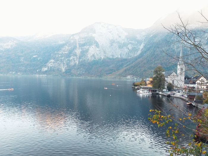 Autumn Austria Lake View Boats Wallpaper Nature Environment Autumn colors Freshness Houses Beautiful Nature Nature Photography Travel Naturelovers Wonderful Place Wonderful View Traveling Environmental Conservation Water Mountain Cold Temperature Lake Tree Reflection Sky Landscape Idyllic Rocky Mountains Scenics Rock Formation