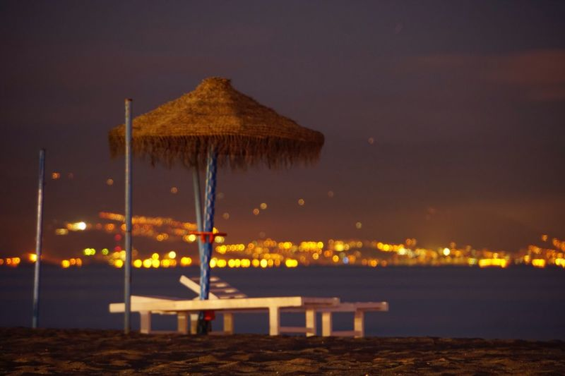 I walked more than seven kilometers yesterday and still the same thing: hotels, restaurants and lounger rentals. every square meter of the beach must be profitable Longexposureoftheday Sony A6500 Hollyday Amazing View Sand Bluehour EyeEmNewHere Toremolinos Travelphotography Water No People Night Outdoors Sky Illuminated Beach Sea