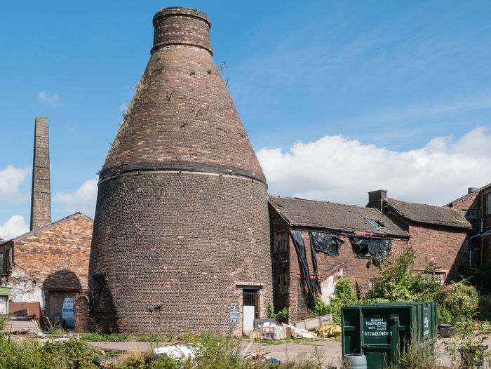 Derelict pottery in Stoke-on-Trent Bottle Kiln Derelict Disused Building Factory Industrial Pottery Art