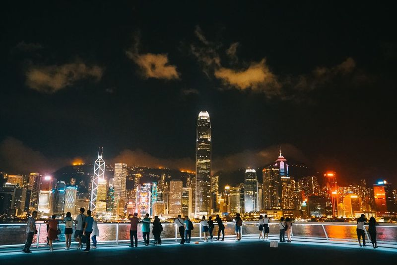 Building Exterior Architecture EyeEm EyeEm Selects EyeEm Best Shots EyeEmNewHere EyeEm Gallery EyeEm Nature Lover Hong Kong HongKong Night Illuminated Architecture Building Exterior Built Structure City Sky Nature Christmas Building Travel Destinations Winter Cold Temperature Celebration Holiday Tree Ice Rink Snow Christmas Decoration Christmas Lights